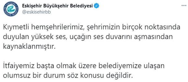 Son dakika haberleri: Sakaryadan sonra bir patlama sesi de Eskişehirde duyuldu İlk açıklama...