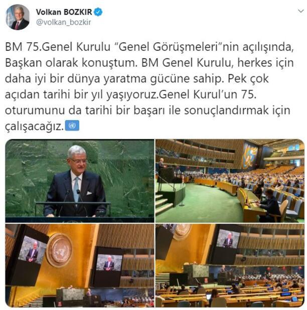 Son dakika... BMde bir ilk Türk Genel Kurul Başkanı Volkan Bozkırdan önemli açıklamalar