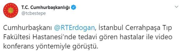 Son dakika... Cumhurbaşkanı Erdoğan, hastanede tedavi gören hastalarla görüştü