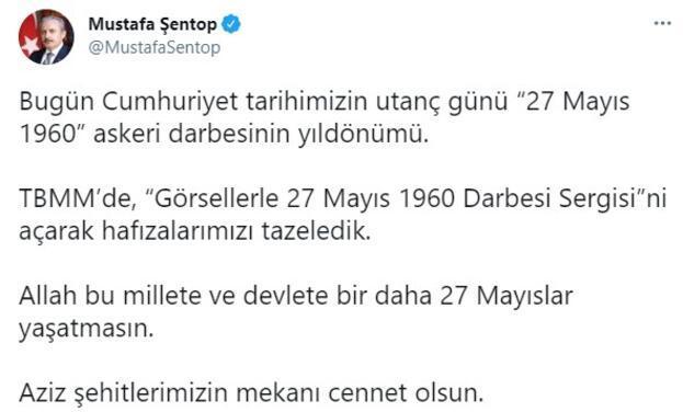 TBMM Başkanı Şentop, Mecliste Görsellerle 27 Mayıs 1960 Darbesi Sergisini açtı