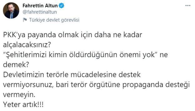 Son dakika... İletişim Başkanı Fahrettin Altundan sert tepki: Yeter artık