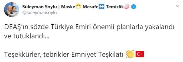 Son dakika... Terör örgütünün sözde Türkiye emiri yakalandı