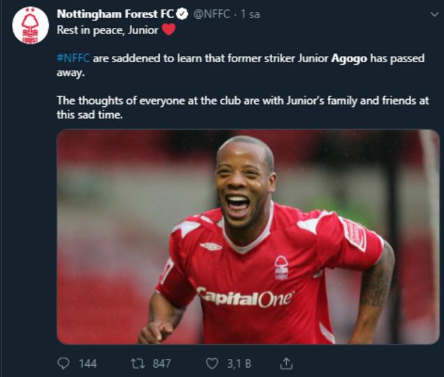 Ganalı Agogo hayatını kaybetti