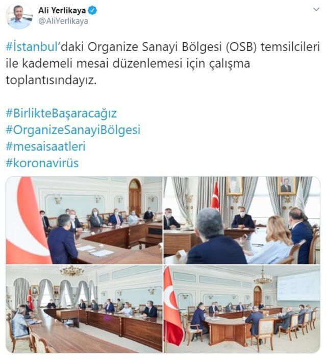 İstanbulda kritik mesai düzenlemesi toplantısı