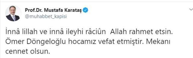 Son dakika Ömer Döngeloğlu hayatını kaybetti