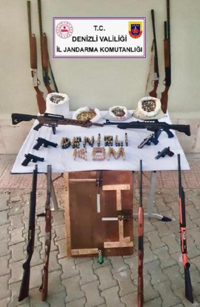 Denizlide silah kaçakçılığı operasyonu: 7 gözaltı