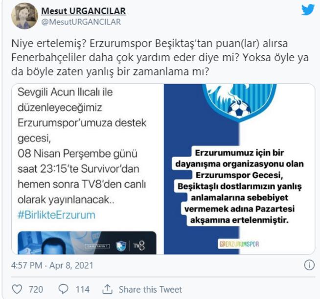 Acun Ilıcalıdan Beşiktaşlı yönetici Mesut Urgancılara sert sözler