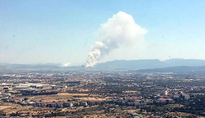 Son dakika haberi... İzmirde orman yangını çıktı Ekipler müdahale ediyor