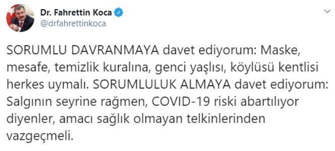 Son dakika... Sağlık Bakanı Fahrettin Kocadan koronavirüs abartılıyor diyenlere uyarı