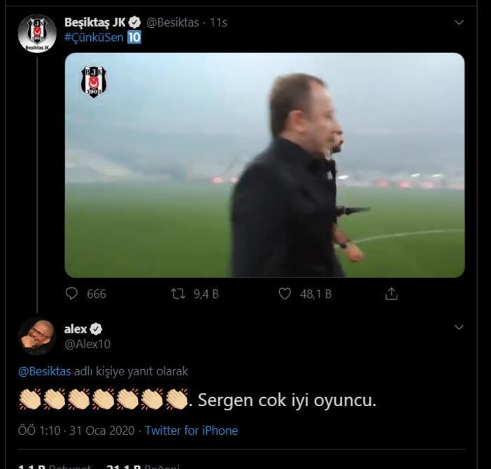 Alexten Sergen Yalçına jest Çok iyi oyuncu