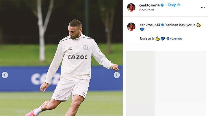 Cenk Tosun, Everton ile yeniden idmanda