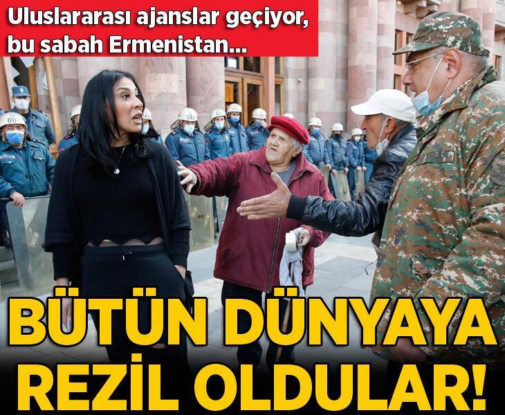 Dünyaya rezil oldular! Ermenistan'da bu sabah...