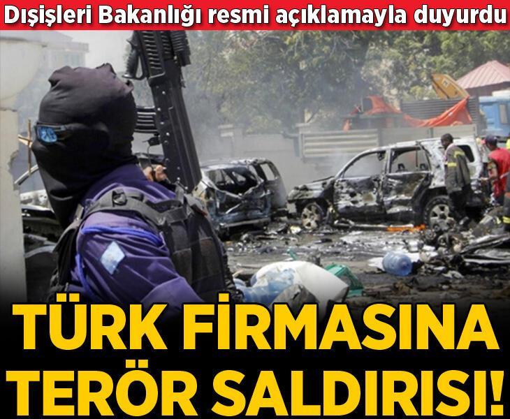 Son dakika... Somali'de Türk şirketine terör saldırısı! 4 kişi öldü