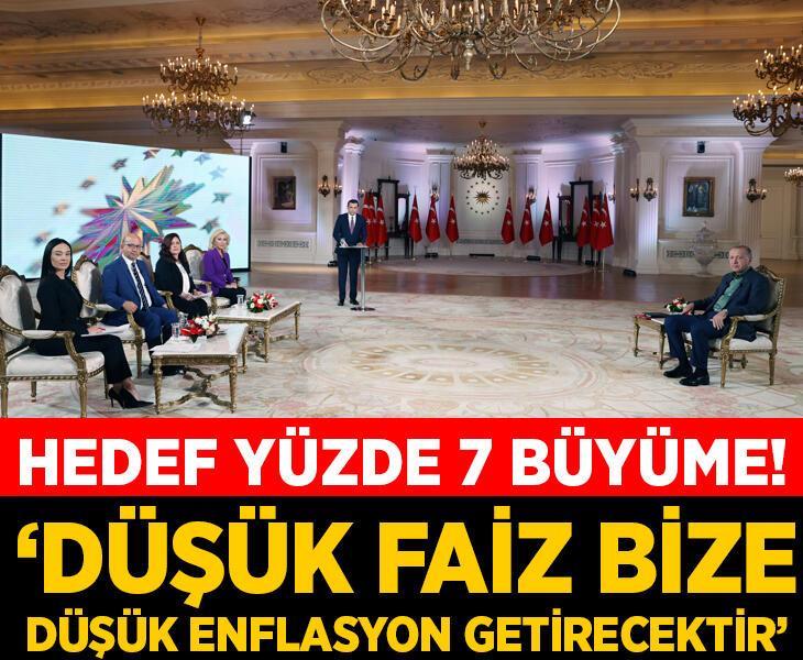 Erdoğan: Düşük faiz bize düşük enflasyon getirecektir