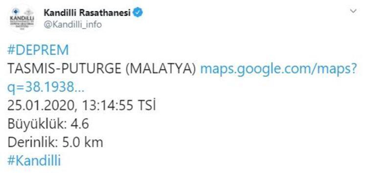 Son dakika: Elazığda artçı depremler devam ediyor