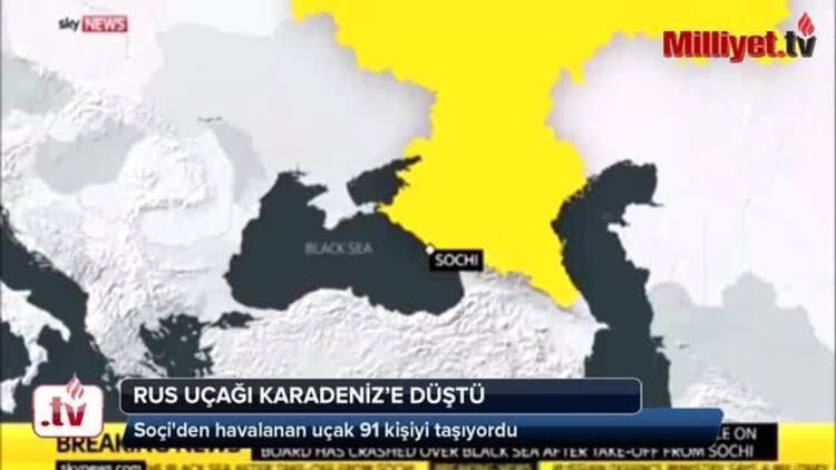 Son dakika: Rus uçağı Karadenize düştü Cesetler böyle çıkarıldı...
