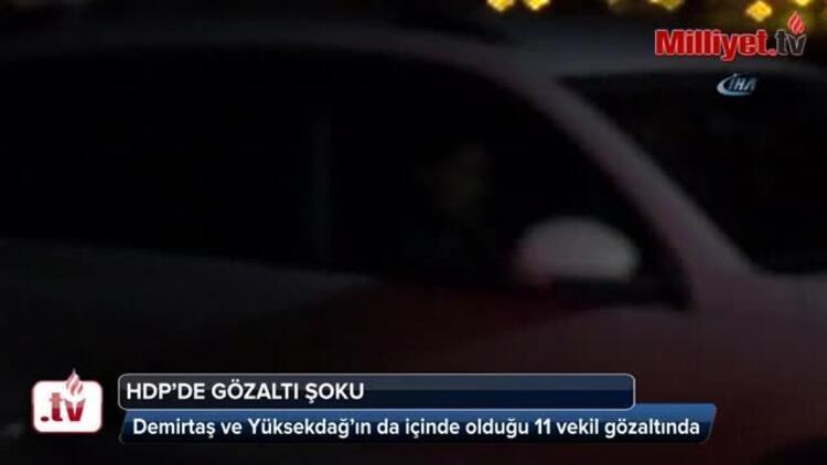 Son dakika: Selahattin Demirtaş ve Figen Yüksekdağ tutuklandı İşte o cezaevine götürüldü...