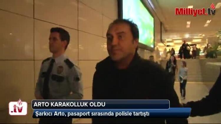 Şarkıcı Artoya havalimanında gözaltı