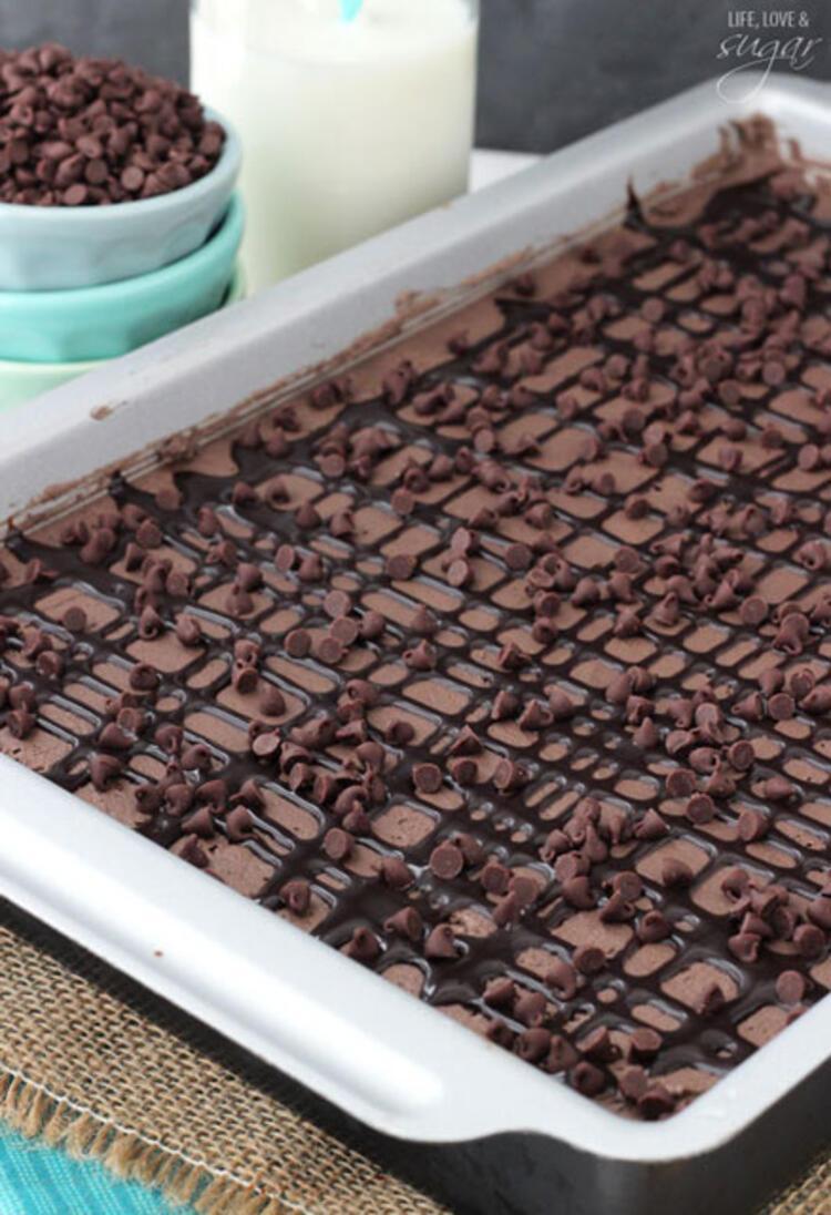 Çikolatalı soğuk pastanın yapılışı