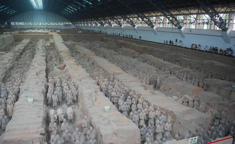 Terracotta Warriors (Lintong, Xian, Shaanxi, Çin)