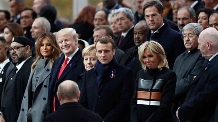Cumhurbaşkanı Erdoğan Pariste... Liderler böyle yürüdü