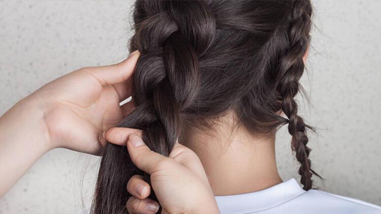 Daha yoğun ve kalıcı dalgalar için saçlarınızı örün