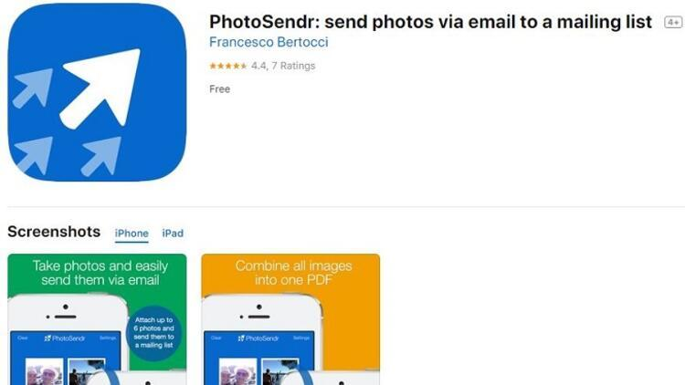 PhotoSendr: send photos via email to a mailing list