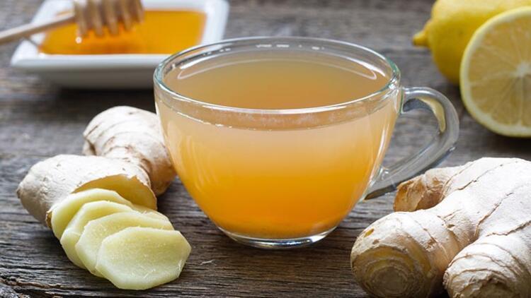 Ballı zencefil çayı