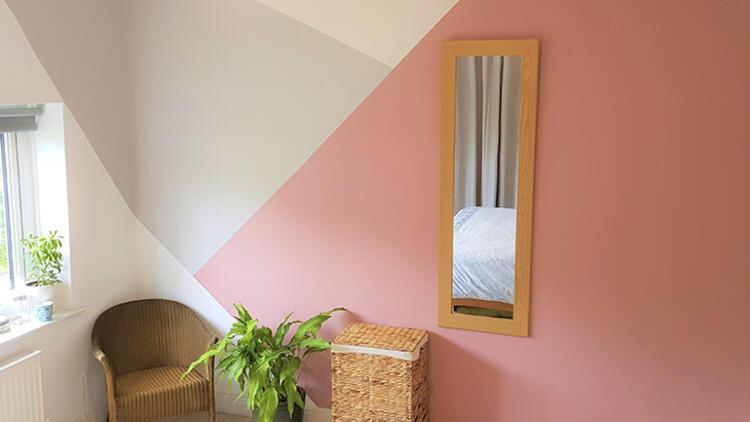Bu trend çok sevilecek: Geometrik duvarlar