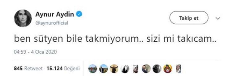 Aynur Aydın'dan olay paylaşım! Sütyen Tweeti beğeni rekoru kırdı