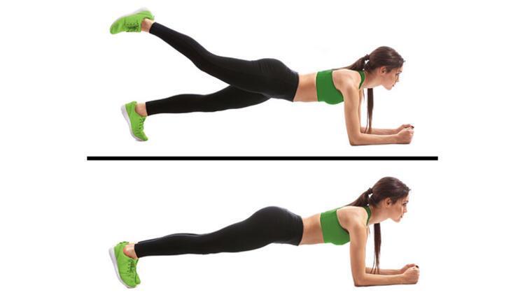 Hareketli plank egzersizi