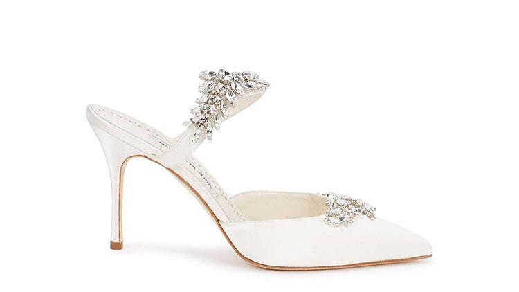 Manolo Blahnik Lurum 90 Crystal Sandals