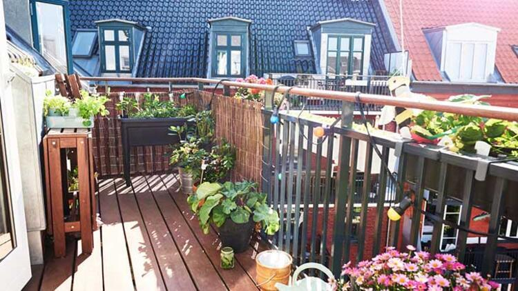 Balkon ve bahçeyi unutmayın