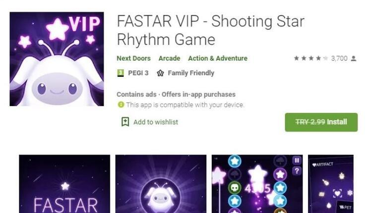 Fastar VIP - Shooting Star Rhythm Game