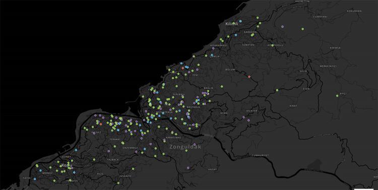 Zonguldak yoğunluk haritası