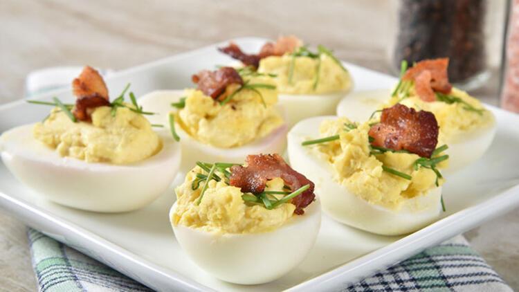 Öğle yemeğini hafif geçirmek isteyenlere: Yumurta dolması
