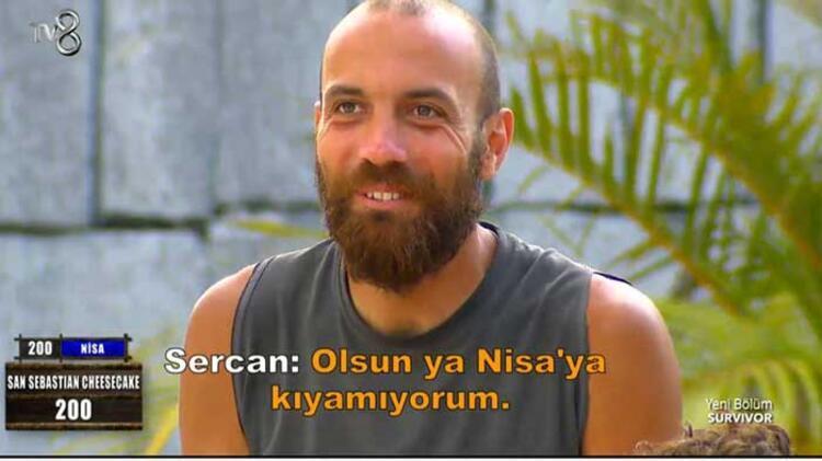 Son dakika haberler: Survivor'da Sercan Yıldırım, Nisa'ya açıldı ...