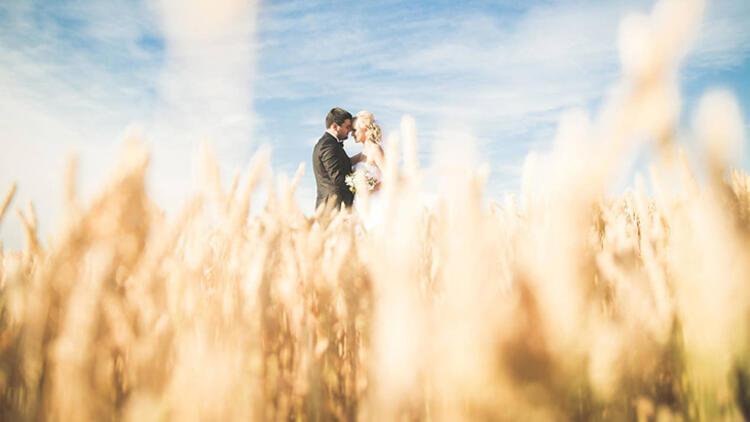 Düğün için açık alanları tercih edin