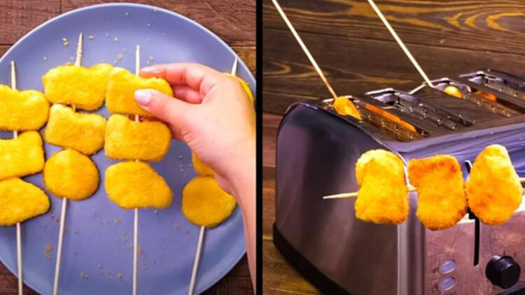 4-Ekmek kızartma makinesinde nugget pişirin