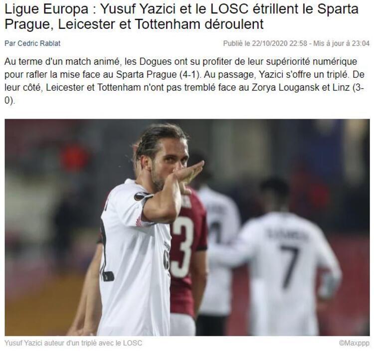 Foot Mercato: Yusuf Yazıcı ve Lille liderliği aldı