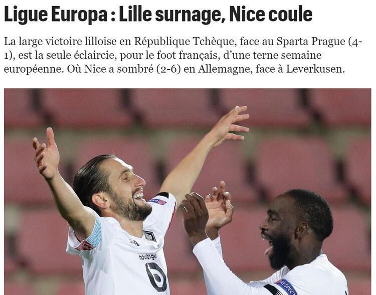 Le Parisienden Lille övgüsü