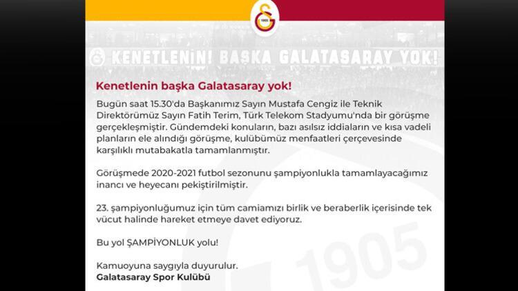 Kenetlenin başka Galatasaray yok