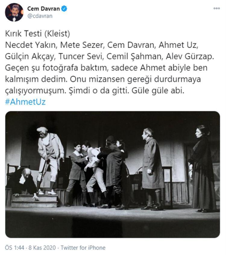 Oyuncu Ahmet Uz hayatını kaybetti - Magazin Haberleri - Milliyet - Sayfa 3