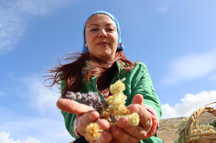 Köydeki kadınlar istihdam ediliyor
