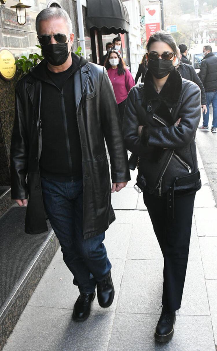 Tamer Karadağlı 30 yaş küçük sevgilisiyle Bebek'te