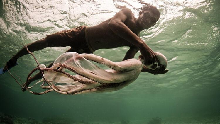 Suyun altında dakikalarca nefessiz kalabiliyorlar