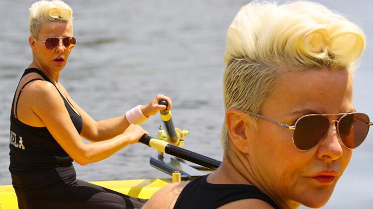 Şarkıcı Pamela, Meriç Nehri'nde kürek çekti