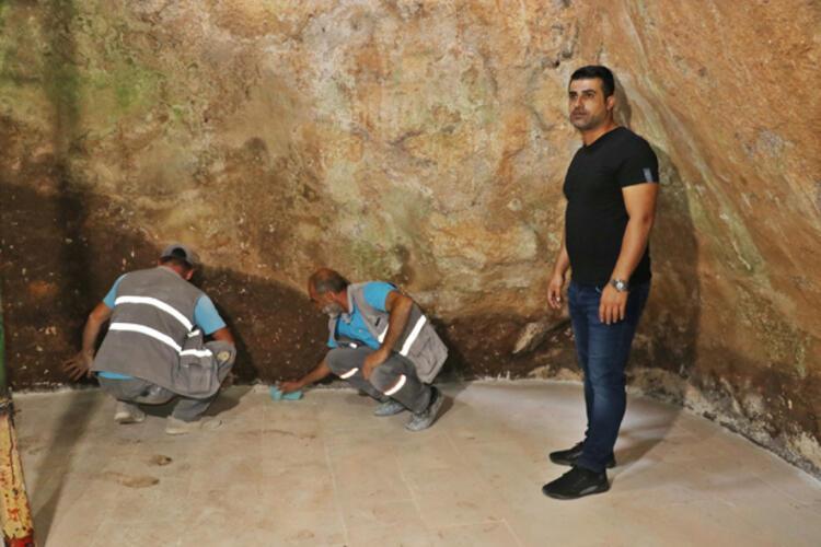 Sultan Şeyhmusun 40 gün tek başına kaldığı mağara restore edildi