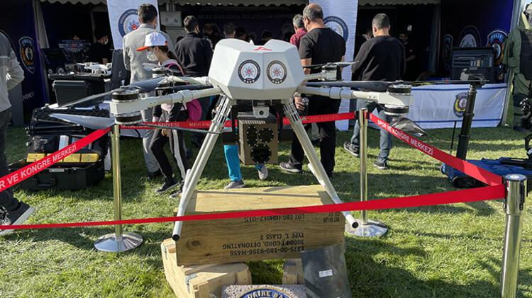Eren, the world's first laser-armed drone, attracted attention at the festival