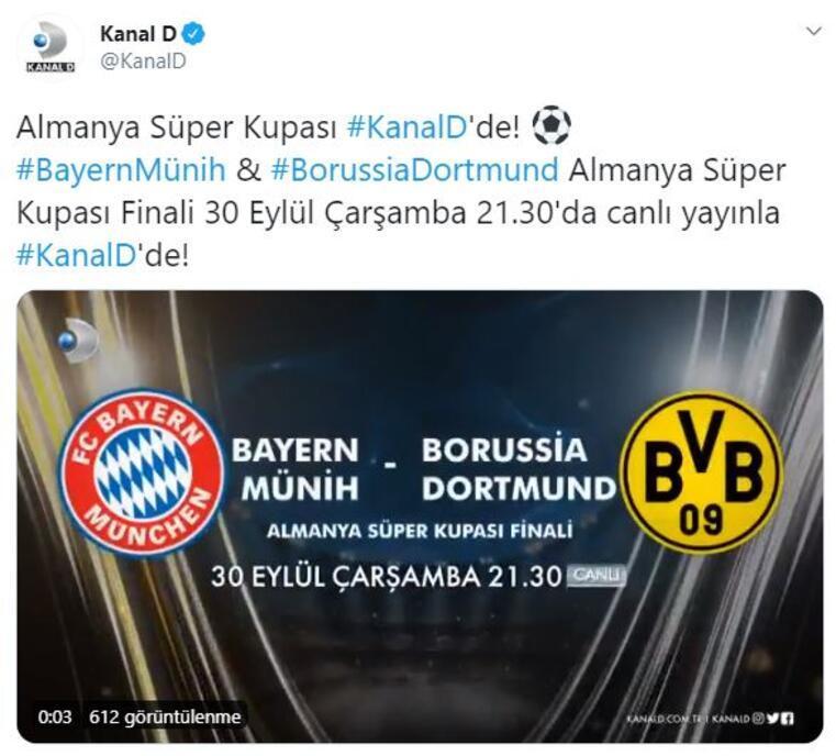 Almanya Süper Kupa finali Kanal Dde